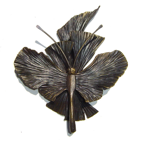 Forged Iron Butterfly Wall Decor