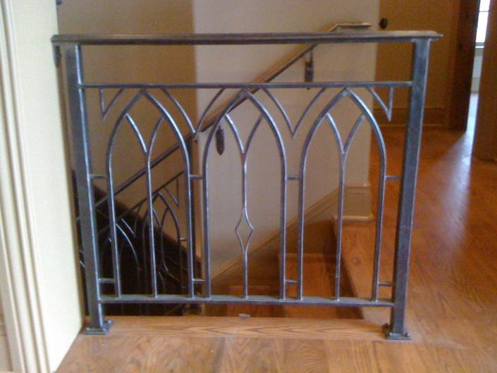 Custom Iron Railing Detail