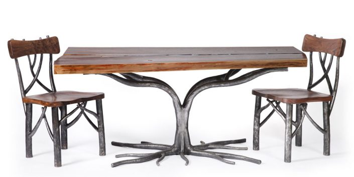 Life Dining Table and Chairs collaboration with The Old Wood Co.