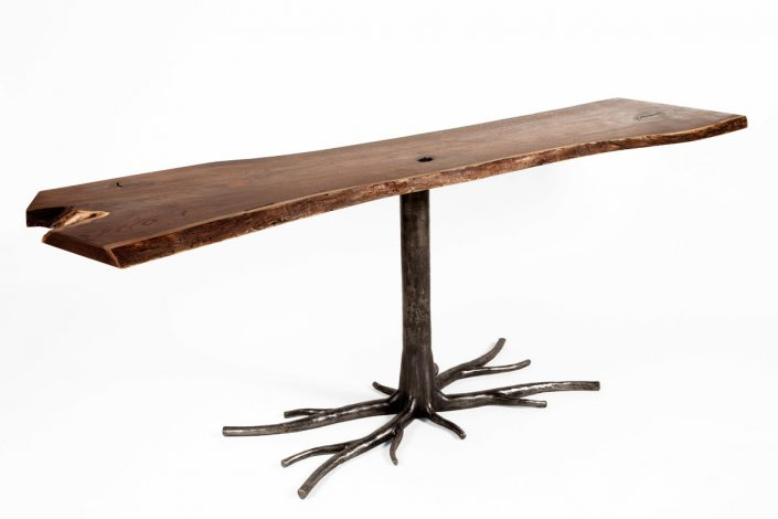 Table with custom iron legs