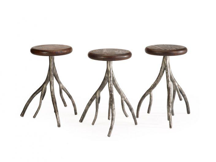 Custom designed stools with iron legs