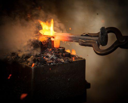 heated metal shaping