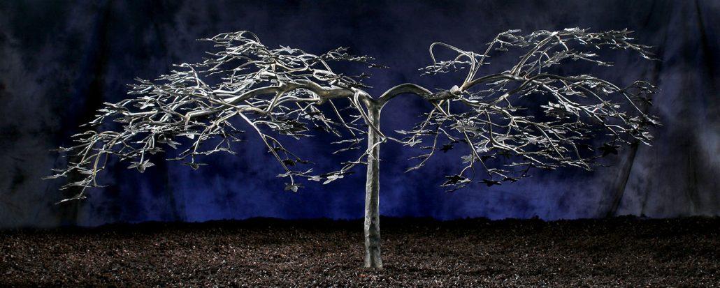 iron japanese maple tree sculpture