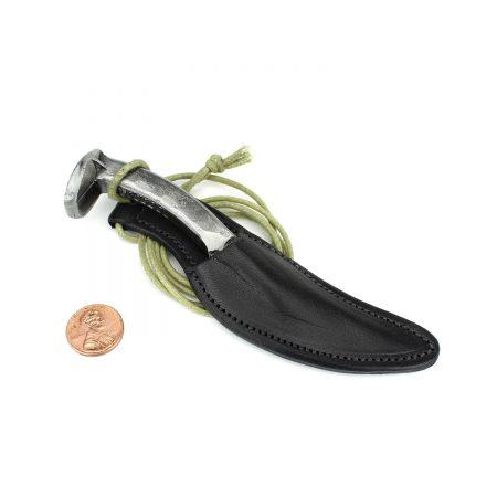 Leather Knife Sheath Necklace Black