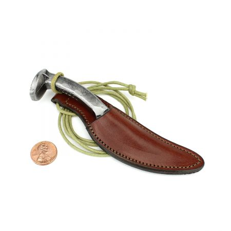 Leather Knife Sheath Necklace Brown