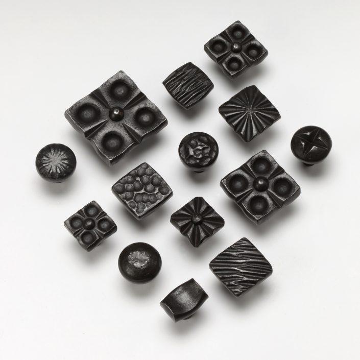 Handmade Forged Iron Cabinet Hardware Knobs