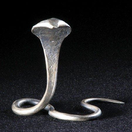 Forged Metal Cobra Snake Sculpture Office Art