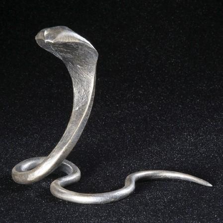 Forged Metal Cobra Office Art