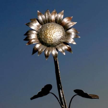 Handmade Forged Metal Sunflower Home and Garden Art
